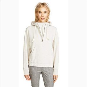 VINCE half hoodie sweatshirt